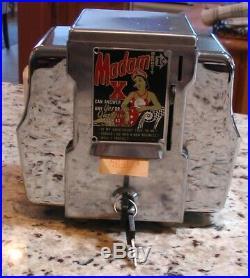 Vintage 1950's Madam X 1¢ Coin Operated Fortune Teller Napkin Dispenser