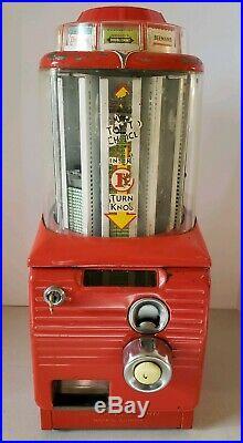 Vintage 1950's Northwestern Rotating Top Penny Gum Dispenser Vending Machine
