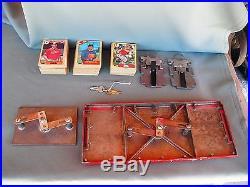 Vintage 1950's Premiere Oak 1 Cent Gumball & Baseball Card Vending Machine
