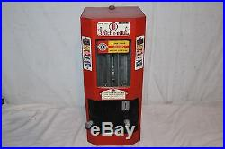 Vintage 1950's Select-O-Vend Gum Candy 1c Hershey's Metal Vending Machine Sign