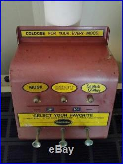 Vintage 1950's Spray-A-Way Cologne Coin-Op Vending machine