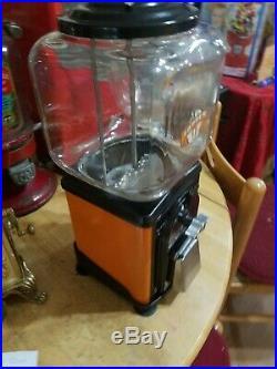 Vintage 1950's Victor Topper glass gumball machine Orange Restored original W@W