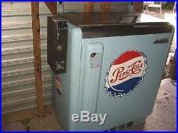 Vintage 1950's quick cold pepsicola vending soda machine