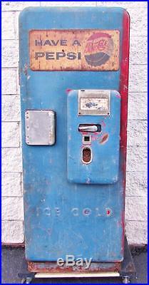 Vintage 1950s Cavalier C51 Coke Coca-Cola Rebranded Pepsi Bottle Vending Machine