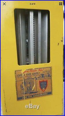 Vintage 1950s Kopper King one cent Tab Gum Vending Machine
