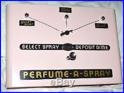 Vintage 1950s Restored RARE Perfume-A-Spray Coin Operated Vending Machine & Keys
