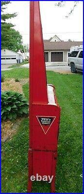 Vintage 1950s Tom's Peanuts Snack Vending Machine 68 In. Tall Tested