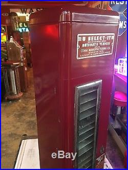 Vintage 1950s U SELECT-IT 5 Cent Wall Mount Candy Coin-Op Vending Machine