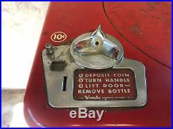 Vintage 1950s Vendo A23 Coca Cola Spin Top Vending Machine