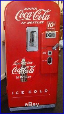 Vintage 1950s Vendo Coke Coca Cola Soda Vending Machine Model F39b5510t 39