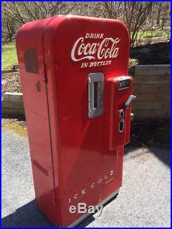 Vintage 1950s Vendo Coke Coca Cola Soda Vending Machine Model F39b5