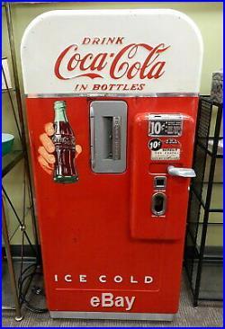 Vintage 1950s Vendo V-39 Ten Cent Coke Coca Cola Vending Machine Working