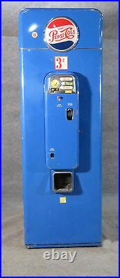 Vintage 1950s era Pepsi Vending Soda Pop Cola Machine