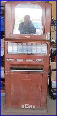 Vintage 1951 Stoner 8 Pull Deco Style 5&10 Cent Candy Vending Machine