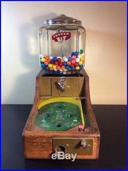 Vintage 1952 Leaf Brand Golf Penny Gum Ball Pin Ball Machine