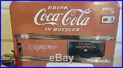 Vintage 1954 Coca Cola Coke Machine Vendo Model #f83 Embossed Works Perfect