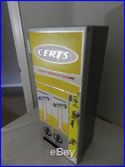Vintage 1960's Certs Breath Mints Vending Machine- Vintage Vending Machine-rare