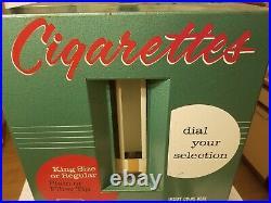 Vintage 1960's Cigarette 35 Cents Vending Machine Counter Top Machine