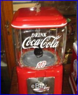 Vintage 1960's Style Coca-Cola Spriteboy Theme Oak Acorn Gumball /Peanut Machine