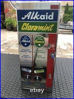 Vintage 1960s Alkaid Cloramint NYC Subway Vending Machine Working Withkey