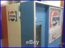 Vintage 1970's Pop Soda Machine Vendorlator Vendo Pepsi Coke Beer 10 Selection