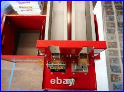 Vintage 1970's Sports Card Center Vending Machine Dual Slot 25/50 Cents Read