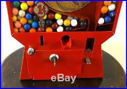 Vintage 1 Cent Coast Basketball Pinball Gumball Vending Machine Game
