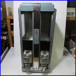 Vintage 1 Cent KANDY KING Dual Dispenser Gum Ball Candy Penny Vending Machine