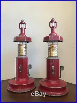 Vintage 1 Cent Van-Lite Lighter Fluid Dispensers (2) RARE ITEM