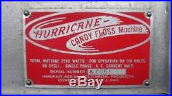 Vintage 40's-50's Hurricane Candy Floss/Cotton Candy Machine by Gold Medal