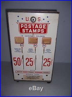 Vintage 50 & 25 Cent U. S. Postage Stamp Vending Machine