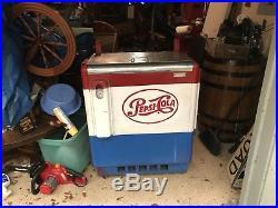 Vintage 50 To 60 Pepsi Cola Vending Machine Cooler Pepsi Ice Chest