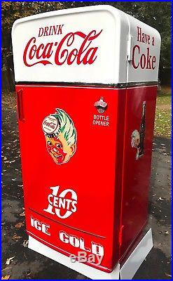 Vintage 50's Coca-Cola Coke Upright Freezer One-Of-A Kind Renovation-Must See
