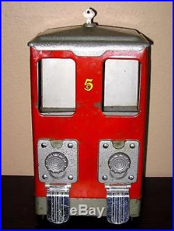 Vintage 5 Cent Lawrence Two-Column Vending Machine