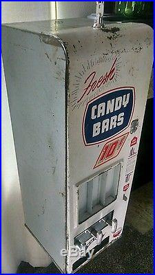 Vintage 5 cent converted to 10. Shipman's candy machine with stand