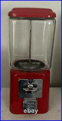 Vintage 5cent Oak Acorn Gumball Machine Rare