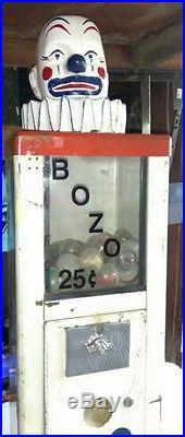 Vintage 60s clown vending machine