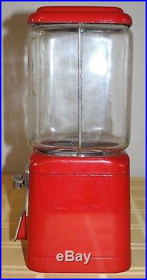 Vintage ACORN Penny Nickel Vending Machine 1 Cent 5 Cent Red Body WORKS