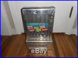 Vintage ADAMS 1 Cent Penny Coin Operated Gum Chiclets Dentyne Dispensing Machine