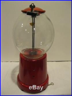 Vintage ADVANCE PEANUT MACHINE, Wide Mouth, 1923 Gumball with AMCO LOCK & KEY