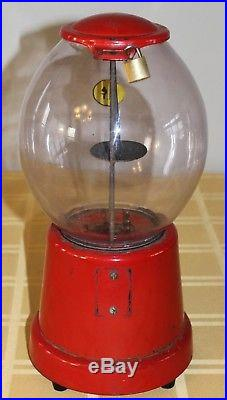 Vintage Advance Model D Gumball Machine 1 Cent Penny Vendor WORKS