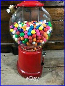 Vintage Antique Bubble Gum Machine Coin Operated Working Condition