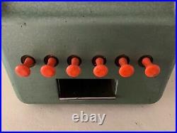 Vintage Antique Green Stoner Chiclets 1cent Gum Vending Machine Tested Works
