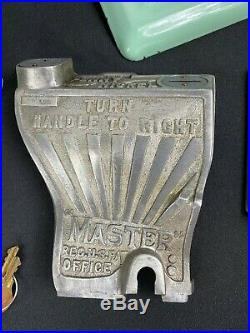 Vintage Antique Master Fantail Penny Nickel Gumball Vending Machine Gum Ball