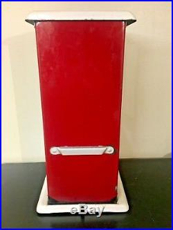Vintage Antique Master Penny Nickel Gooseneck Gumball Peanut Vending Machine HTF