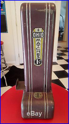 Vintage Antique Northwestern Book Match Vender 1 Cent Vending Machine AUTHENTIC