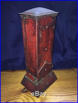 Vintage Antique Ohio Blue Tip Match Box Countertop Vending Machine All Original