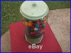 Vintage Antique Penny Gumball Vending Machine Collectible Gum Machines Old Rare
