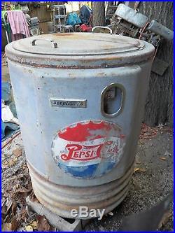 Vintage Antique Pepsi Cola Roulette Soda Bottle Vending Machine