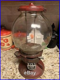 Vintage Antique Red Model A Columbus 1910 Peanut Gumball Machine